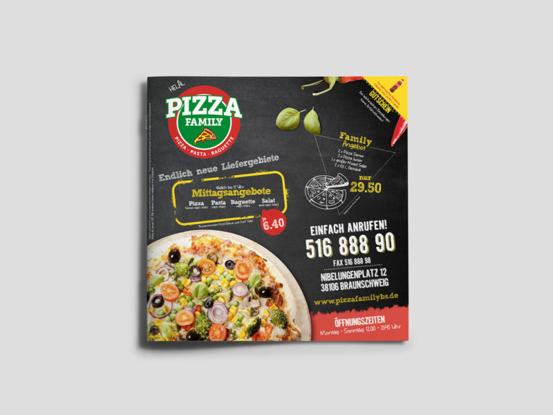 PIZZA FAMILY / MENU DESIGN